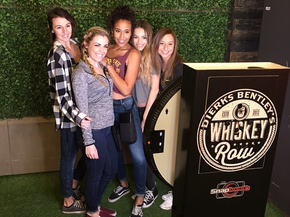 Whiskey Row Selfie Station